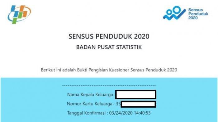 LOGIN www.sensus.bps.go.id, Isi Sensus Penduduk Online 2020, Siapkan KTP dan KK, Cuma 5 Menit