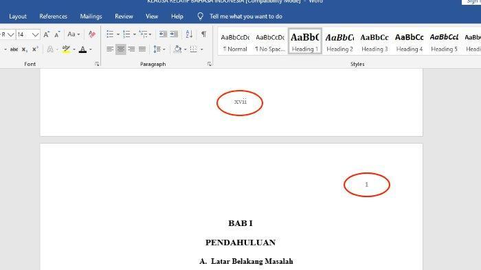 Cara Membuat Nomor Halaman dengan Format Berbeda di Microsoft Word
