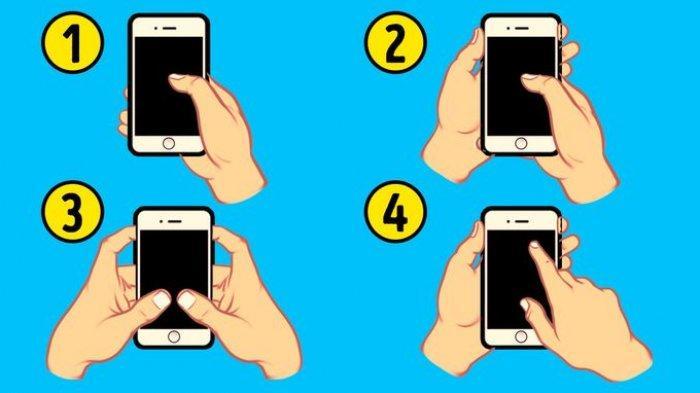 cara memegang ponsel