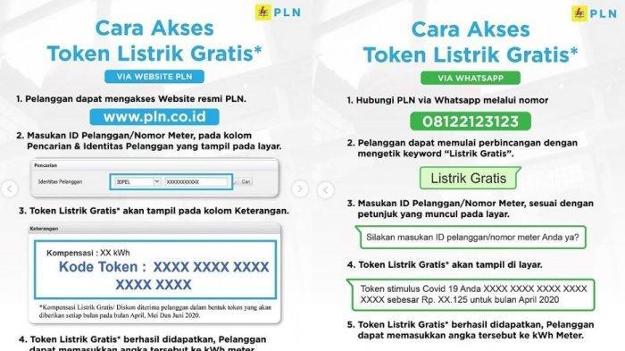 Cara mendapatkan token listrik gratis dan diskon 50 persen via website PLN, pln.co.id dan Whatsapp