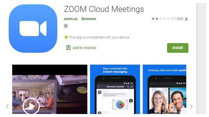 Cara Menggunakan Aplikasi Zoom Untuk Rapat Hingga Belajar Daring Bisa Download Di Ponsel Dan Laptop Tribunnews Com Mobile