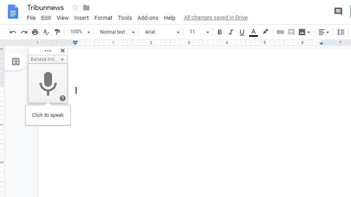 Cara Menggunakan Google Docs Yang Viral Menulis Tanpa Repot Ngetik Cukup Kunjungi Situsnya Halaman 2 Tribunnews Com Mobile