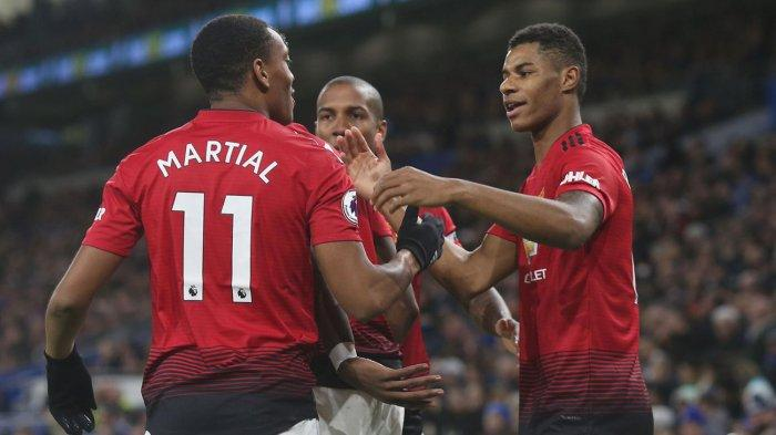 Hasil Man United vs Tottenham Liga Inggris, Dwi Gol Rashford Beri Kekalahan Perdana Jose Mourinho