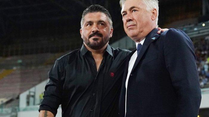 Carlo Ancelotti dan Gennaro Gattuso