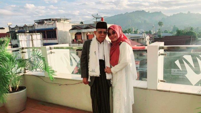 Ma'ruf Amin bersama sang istri tercinta, Nyai Wury Estu Handayani.