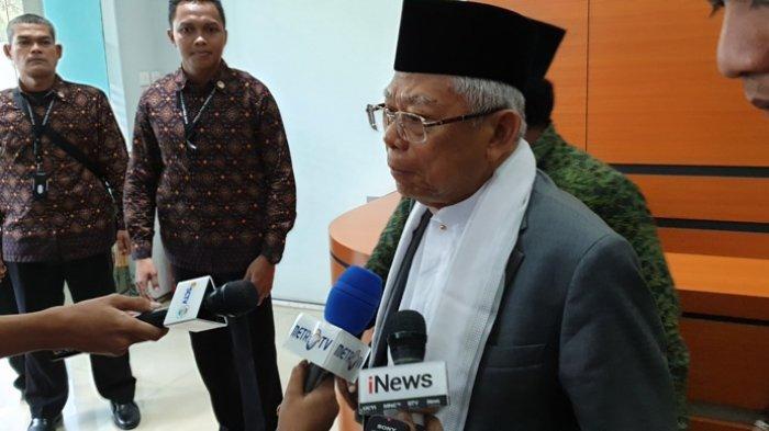 Ma'ruf Amin Ucapkan Terima Kasih Kepada PWNU Jatim Telah Menangkan Jokowi
