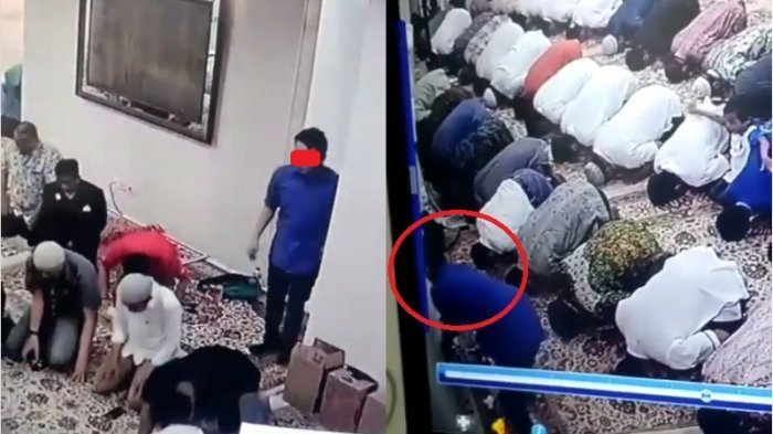 Terekam Kamera CCTV, Pencurian Barang Milik Imam Tarawih di Rumah Dinas Wagub DKI