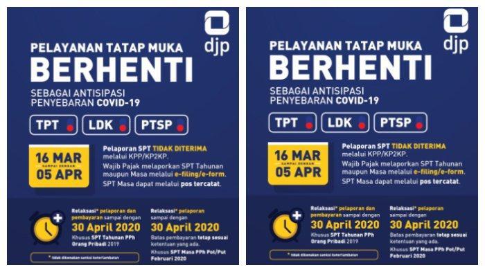 Pelaporan Spt Pajak Diperpanjang 30 April 2020 Tidak Dikenakan Sanksi Keterlambatan Tribunnews Com Mobile