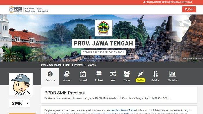 Situs PPDB Jateng.