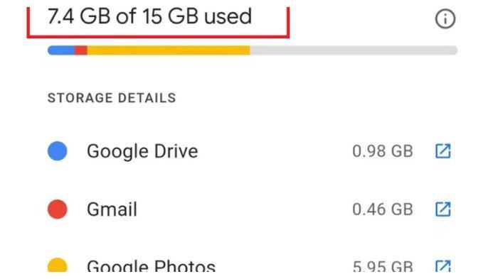 Cek Sisa Kapasitas Penyimpanan Google Photos.