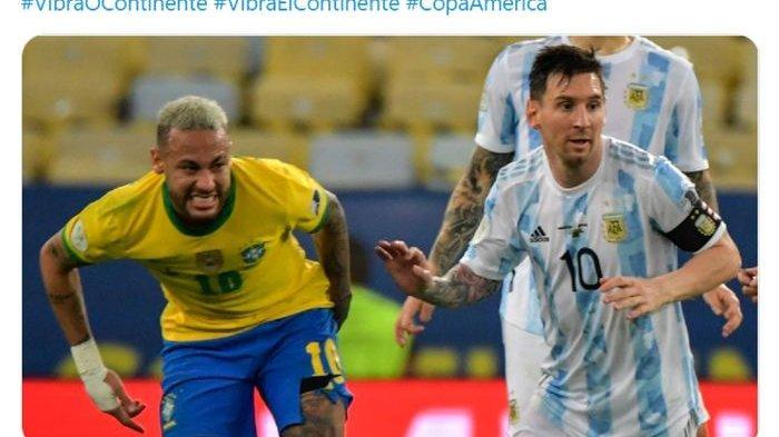 Neymar dan Messi Ukir Sejarah, Dua Bintang Bersahabat Jadi Pemain Terbaik Bersama di Copa America