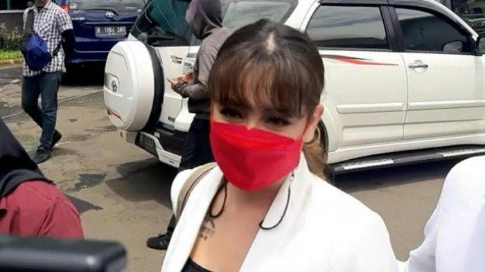 Celine Evangelista ketika ditemui di gedung Trans TV, Jalan Kapten Tendean, Mampang Prapatan, Jakarta Selatan, Selasa (9/2/2021),