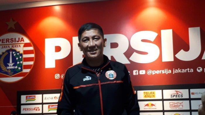 CEO Persija Jakarta Ferry Paulus seusai konferensi pers terkait laga final leg kedua Piala Indonesia di Kantor Persija, Jakarta, Selasa (30/7/219).