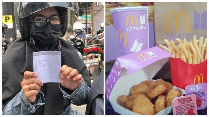Cerita 2 ARMY asal Lembang, Rela Tempuh Jarak Belasan Kilometer untuk Bisa Dapatkan BTS Meal McD