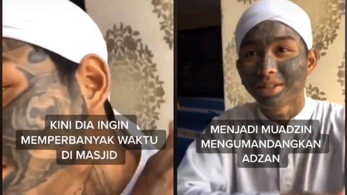 Cerita mantan anak punk dengan wajah penuh tato viral di media sosial, kini anak tersebut memilih menjadi muazin di Semarang.