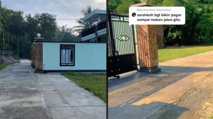 Cerita pria yang menunjukkan fakta tentang pagar rumahnya yang dianggap memakan jalan, viral di media sosial.
