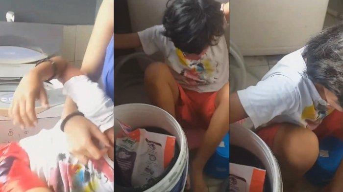 Cerita seorang bocah yang terjebak di mesin cuci, viral di media sosial beberapa waktu lalu.