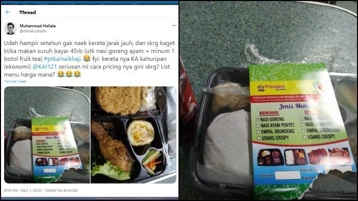 VIRAL Pria Ini Keluhkan Mahalnya Harga Makanan di Kereta Api: Tidak Relevan dengan Harga Tiket