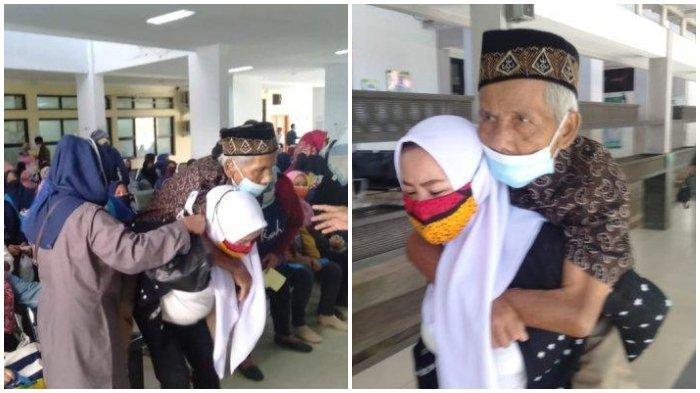 Cerita Wanita di Garut Terpaksa Gendong Ayah saat Berobat di Rumah Sakit, Ternyata Ini Penyebabnya