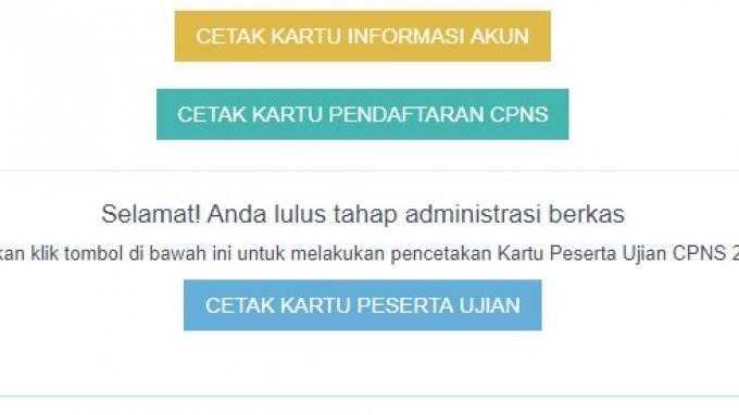 Cetak Kartu Ujian CPNS