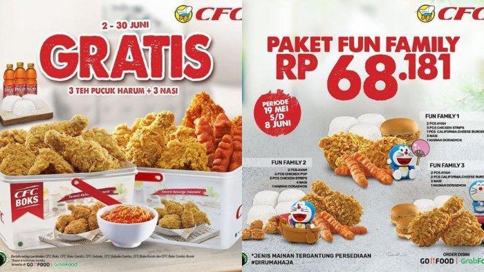 Promo CFC Gratis 3 Teh Pucuk + 3 Nasi Setiap Pembelian CFC Boks, Harga Mulai Rp 128 Ribuan