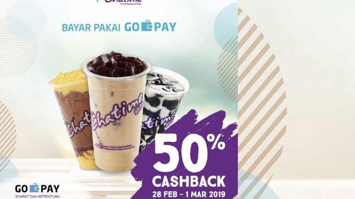 Promo Hari Ini - Melalui Program GO-PAY Payday, Chatime Berikan Cashback Sebesar 50 Persen