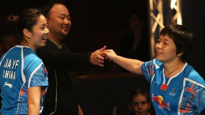 Pasangan ganda putri China, Chen Qinchen/Jia Yifan.