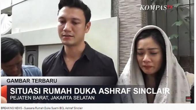 Christian Sugiono dan Titi Kamal mengunjungi rumah duka Ashraf Sinclair pada Selasa (18/2/2020).