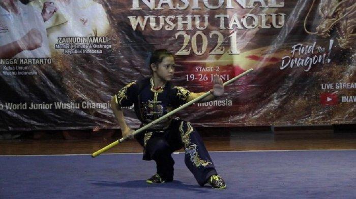 Christina Maria Gweneth Samudi Raih Emas di Sirkuit Nasional Wushu Taolu Seri II/2021