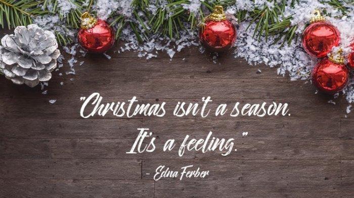 15 Kata Mutiara Tentang Natal Berbahasa Inggris Lengkap Dengan Gambar Dan Artinya Tribunnews Com Mobile