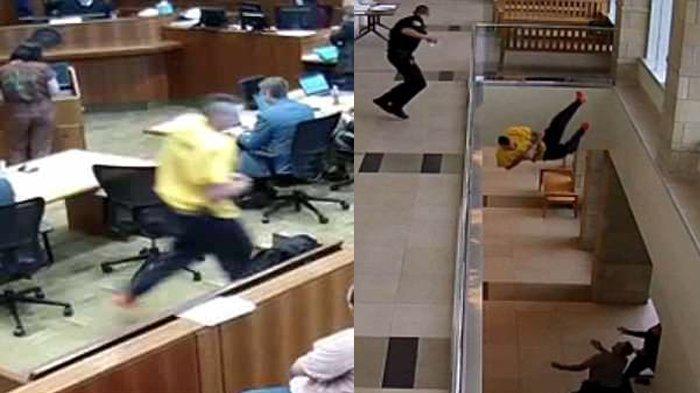 Seorang Napi Kabur dari Persidangan dan Nekat Lompat dari Lantai 2, Nasibnya Jadi Nahas