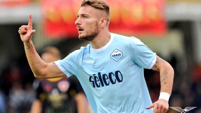 Penyerang Lazio, Ciro Immobile.