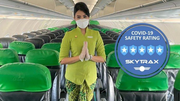 Citilink, LCC Kedua di Dunia yang Sabet Predikat 5-Star Covid-19 Airline Safety Rating dari Skytrax