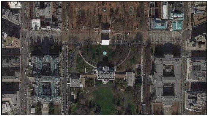 Citra Gedung Putih yang terlihat di Google Earth