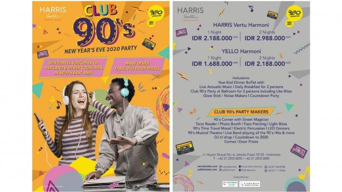 Ini dia Club 90's New Year's Eve 2020 Party ala Yello Harmoni dan Harris Vertu Harmoni.