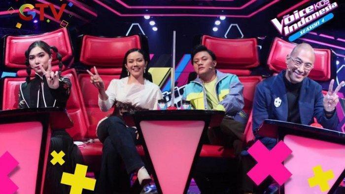 Empat coach The Voice Kids Indonesia Season 4 yang siap menunjukkan aksinya mulai hari ini, Kamis (4/2/2021).