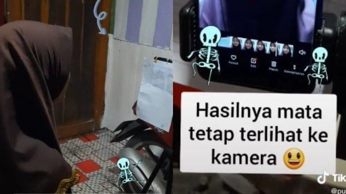 VIRAL Video Siswi SMA Tempel Kertas Hafalan di HP Saat Buat Tugas Online, Pengunggah Ungkap Faktanya