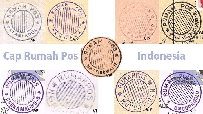 Beberapa contoh cap rumah pos di Indonesia yang sering diburu para kolektor benda filateli.