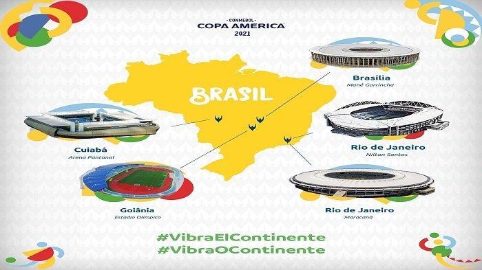 JADWAL LENGKAP Copa America 2021, Kick-off pada 14 Juni, Brasil Jadi Tuan Rumah Dadakan