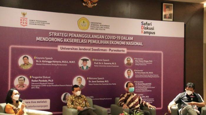 Ketua Pengarah KPC-PEN, Airlangga Hartarto: Pemerintah Pastikan Vaksinasi Gratis Untuk Masyarakat