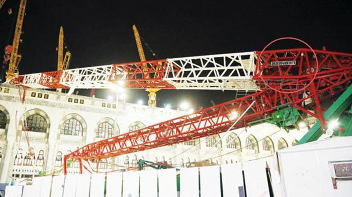 Crane Jatuh di Masjidil Haram Mekah Buatan Perusahaan Jerman