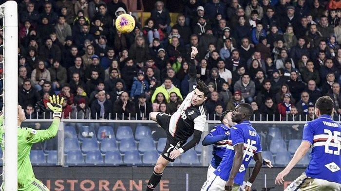Cristiano Ronaldo Cetak Gol Menakjubkan Lawan Sampdoria