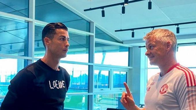 Cristiano Ronaldo dan Ole Gunnar Solskjaer