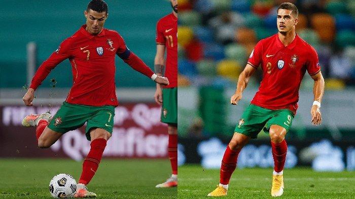 Cristiano Ronaldo (kanan) dan Andre Silva (kiri) dipanggil Timnas Portugal guna berjuang di EURO 2020