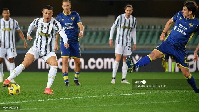HASIL Babak Pertama Verona vs Juventus Liga Italia, Ronaldo Tak Berkutik, Skor Imbang 0-0