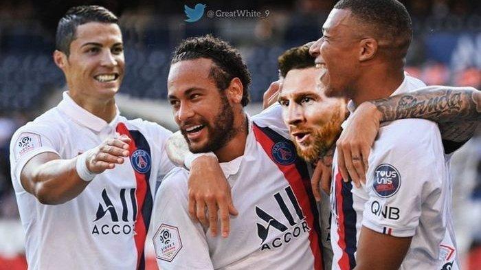 Edan! PSG Berencana Satukan Ronaldo, Messi, Neymar, Mbappe di Bawah Guardiola