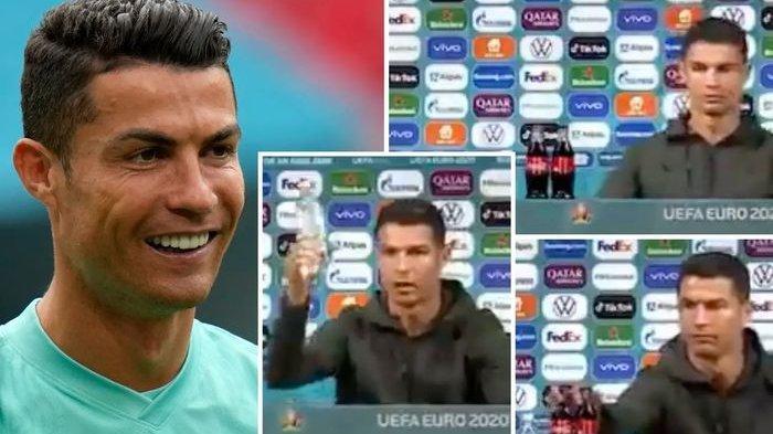 Komedian Indonesia Ini Parodikan Aksi Cristiano Ronaldo Geser Botol Coca-cola