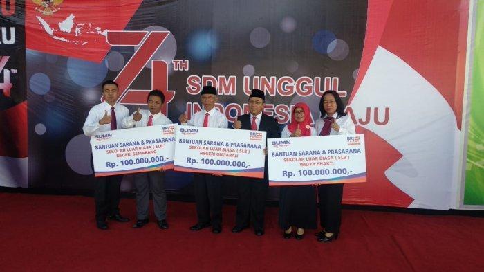 Rayakan HUT RI, BRI Beri Bantuan CSR untuk 57 SLB se-Indonesia