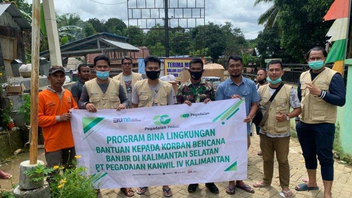 Pegadaian Peduli, Salurkan Bantuan ke Masyarakat Terdampak Banjir di Kalsel