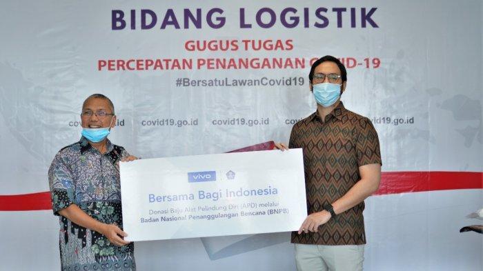 Dukung Tenaga Kesehatan, Vivo Salurkan 3.500 APD ke BNPB